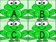 Green Frog Alphabet Letter Flashcards