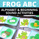 Frog Alphabet Match and Beginning Sound Sorting Activity