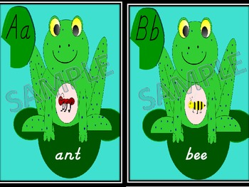 Frog Alphabet Sample