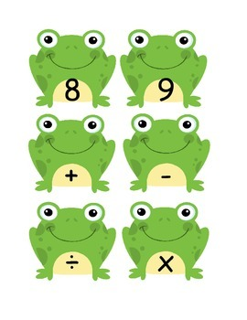 Frog Alphabet and Number Cards