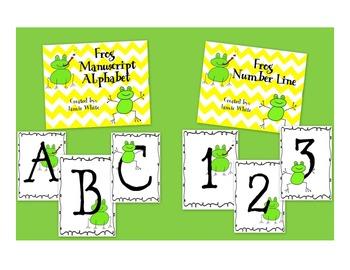 Frog Alphabet and Number Line