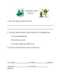 Frog And Toad Are Friends--The Swim Reading Comprehension and Response