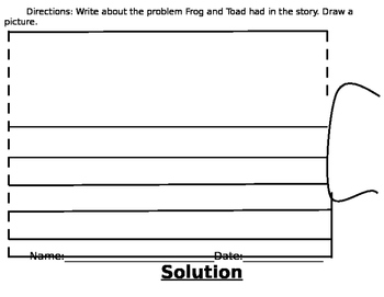 Frog And Toad The Kite Problem and Solution Worksheet