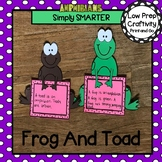 Frog And Toad Writing Cut and Paste Craftivities