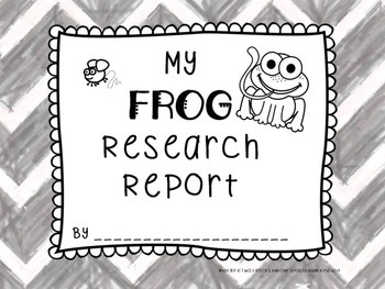 Frog Animal KWL Research And Informational Writing Unit Sample:  {Common Core}