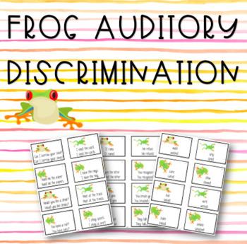 Frog Auditory Discrimination