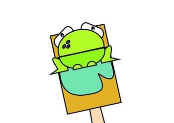 Frog Bag Hand Puppet
