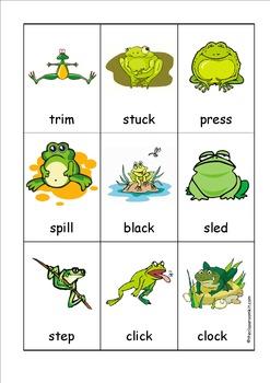 Frog Beginning Blends Card Game