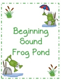 Beginning Sound File Folder Board Game (FROG THEME)
