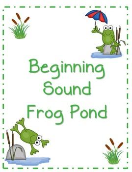 Beginning Sound File Folder Board Game (FROG THEME)
