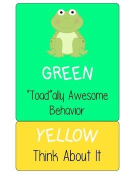 Frog Behavior Clip Chart