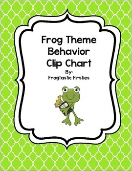 Frog  Behavior Clip Chart/Hop to the Top