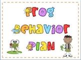 Frog Behavior Plan