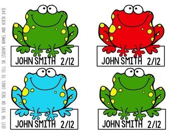 Frog Birthday Bulletin Board