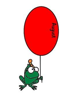 Frog Birthday Display