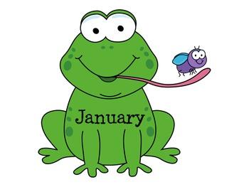Frog Birthday Display Hoppy Birthday