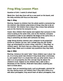 Frog Blog: Technology Lesson Plan