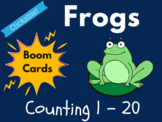 Frog Boom Cards - Counting 1 to 20 (Distance Learning, Bac