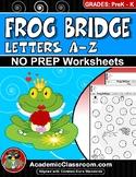 Handwriting Practice: Frog Bridge A-Z Order No Prep Morning Worksheets