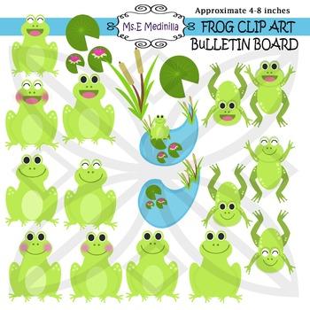 Frog Bulletin Board Clip Art