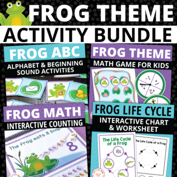 Frog Activities Bundle | Frog Literacy and Math Activities