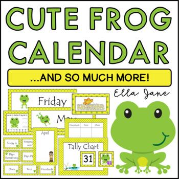 Frog Calendar Bulletin Board Set