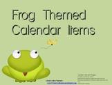 Frog Calendar Items