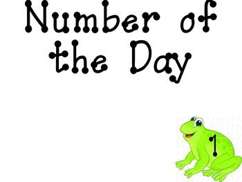 Frog Calendar Math