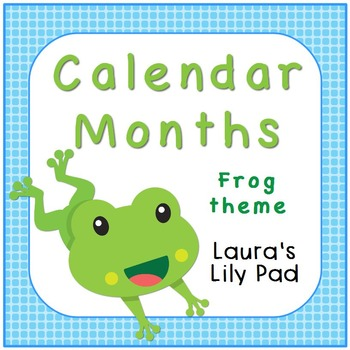 Frog Calendar Months of the Year