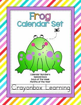 Frog Calendar Set -  Classroom Decor