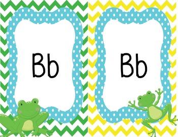Frog Classroom Alphabet Cards