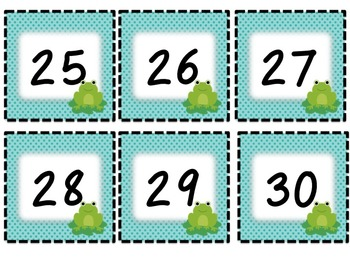 Frog Classroom Calendar Set