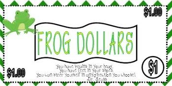 Frog Classroom Frog Dollars