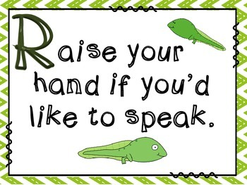 Frog Classroom Rules