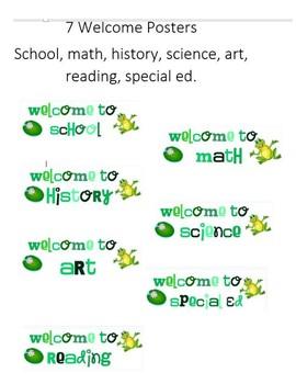Frog Classroom Theme Bundle