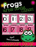 Frog Classroom Theme Numbers Poster and Counters