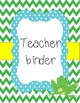 Frog Classroom binder covers