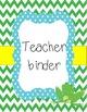 Frog Classroom binder covers