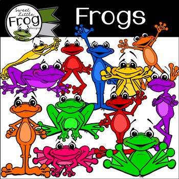 Frog Clip Art (C) Shaunna Page 2015