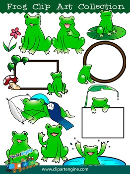 Frog Clip Art Collection