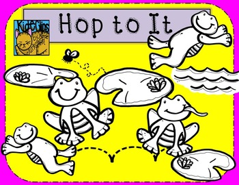 Frog Clip Art Hop to It by Kid-E-Clips Personal and Commercial Use