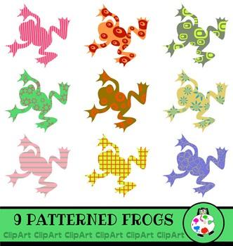 Frog Clip Art - Silhouette Icon Graphics