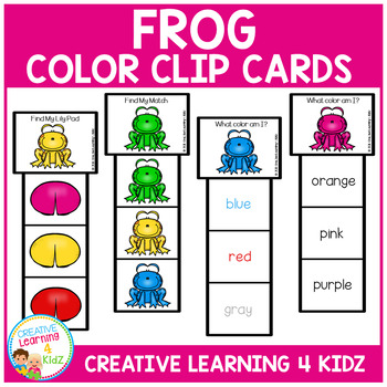 Frog Color Clip Cards