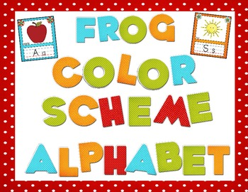 Frog Color Scheme Alphabet Mini Posters