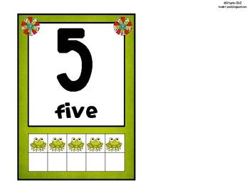 Frog Color Scheme Number Mini Posters (Ten Frame)