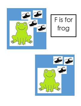 Frog Counting 1 - 4 file folder game