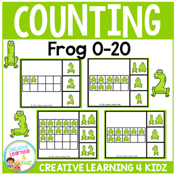 Frog Counting Clip Cards