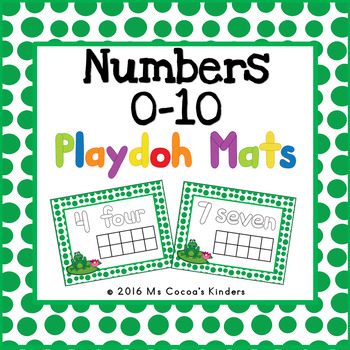 Play Doh Mats - Number Counting 0-10