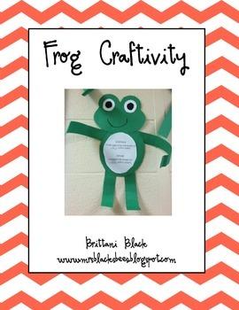 Frog Craftivity~ Jump, Frog, Jump!