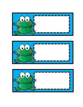 Frog Cut Outs - Brights